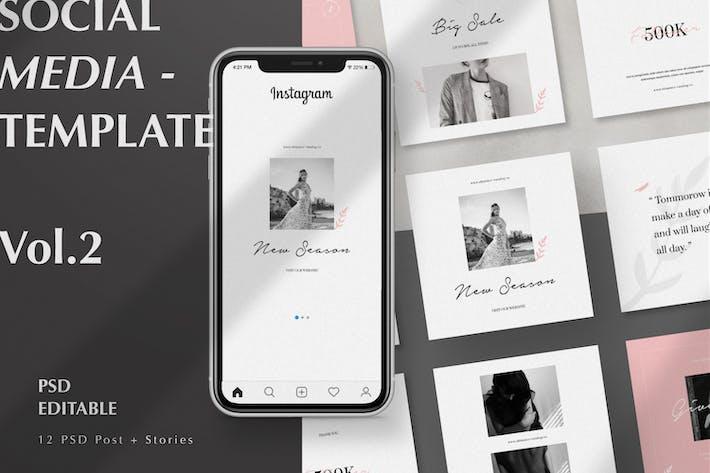 Social Media Instagram Story & Post Vol.2