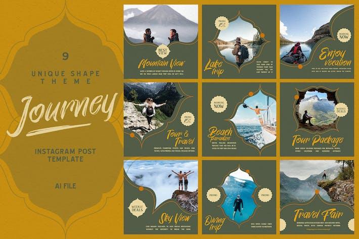 Thumbnail for Unique Shape Theme - Journey Instagram Post