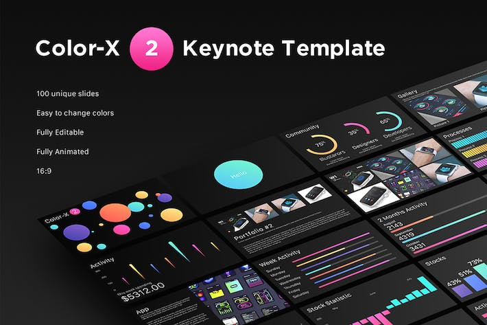 Thumbnail for Color-X 2 Keynote Template