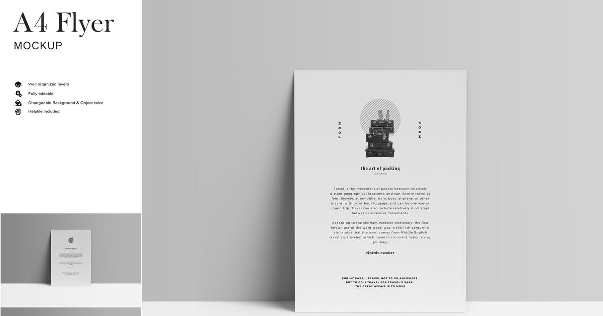 Download A4 Flyer Mockup by GraphicMonday