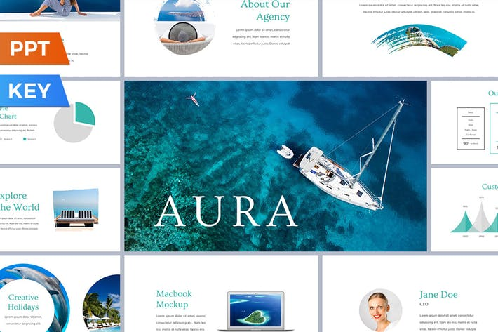 Thumbnail for Aura Presentation Template