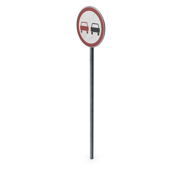 Thumbnail for Traffic Sign No Overtaking With Pole