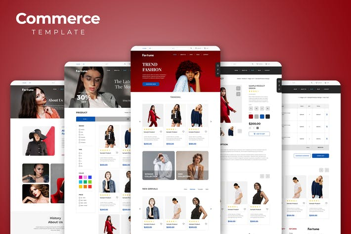 Thumbnail for eCommerce Website Templates