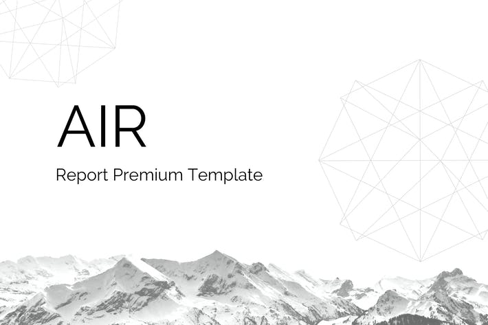 Thumbnail for Air - PowerPoint Report Template