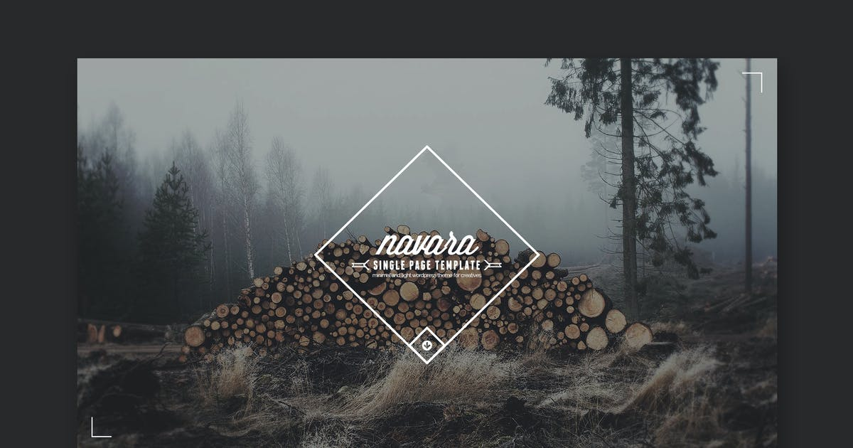 Download Navara - Vintage Single Page PSD by PremiumLayers