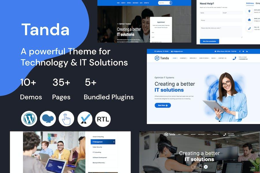 Tanda — WordPress-Theme für Technologie und IT-Lösungen