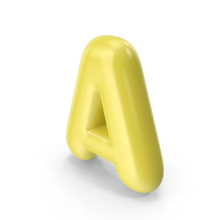 Yellow Toon Balloon Letter A