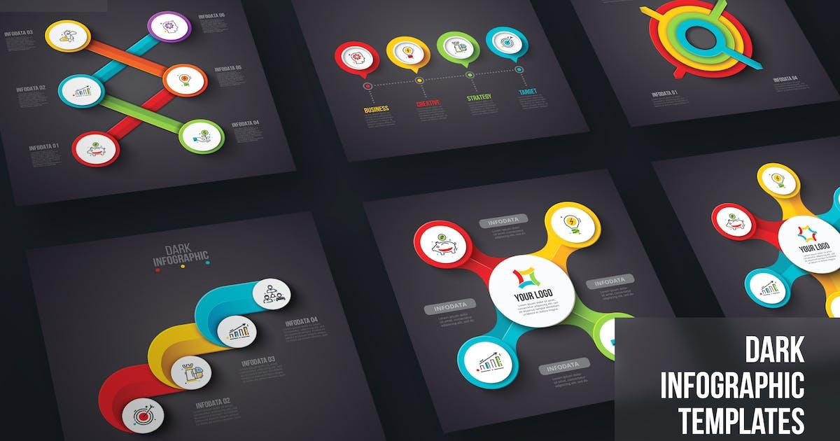 Download Dark Infographics template set v.39 by Abert84