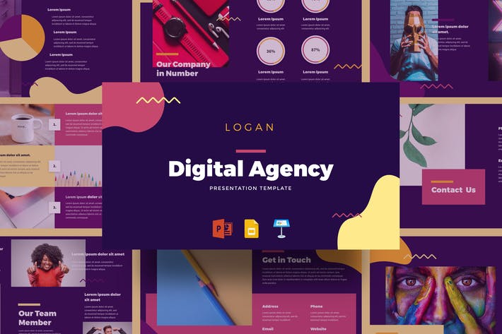 Thumbnail for Logan - Digital Agency Presentation Template