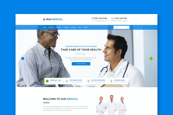 Thumbnail for Medical Website PSD Template