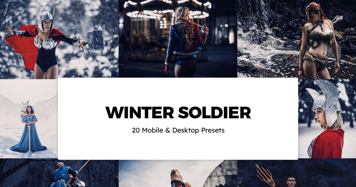 Download 20 Winter Soldier Lightroom Presets & LUTs by sparklestock