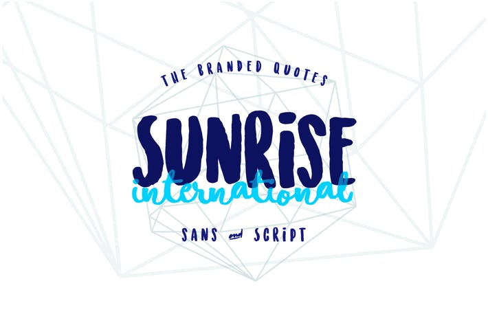 Thumbnail for Sunrise International (Typeface)