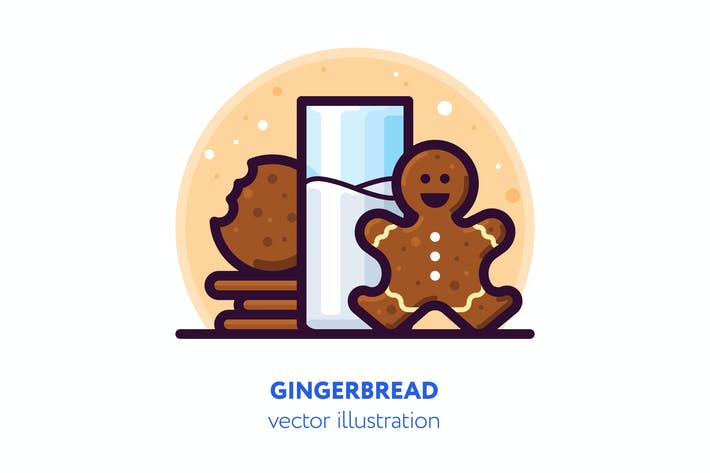 Thumbnail for Gingerbread illustration