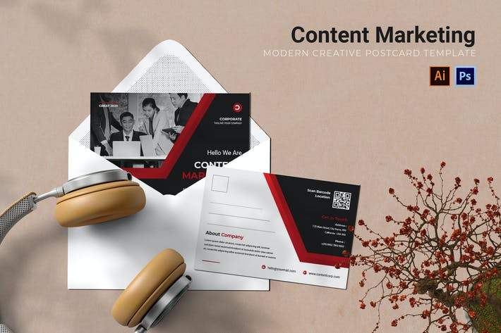 Thumbnail for Content Marketing Postcard AC