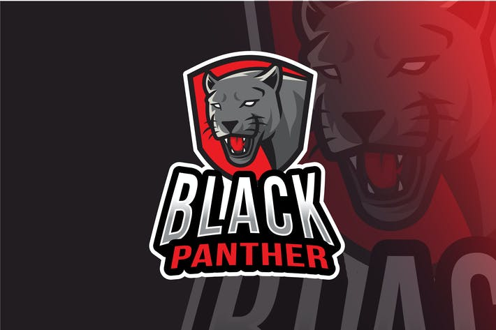 Thumbnail for Black Panther Logo Template
