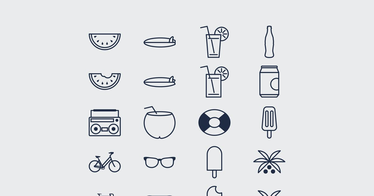 Download 20 Beach Summer Icons by Rometheme