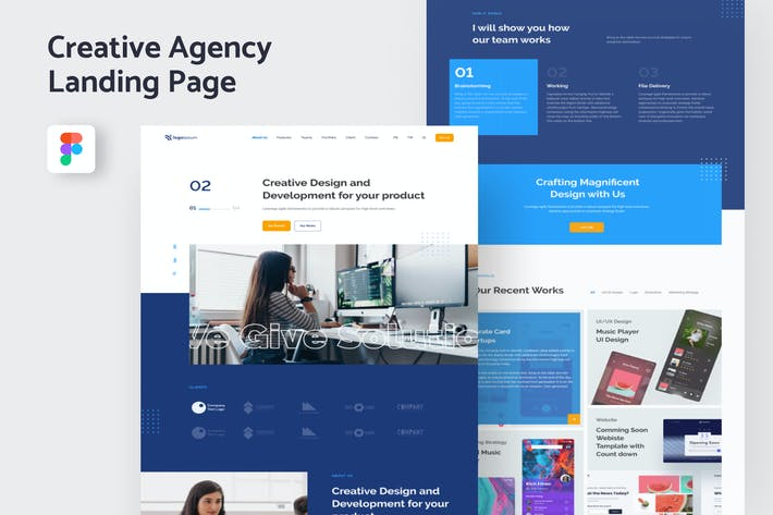 Thumbnail for Creative Agency Landing Page Template