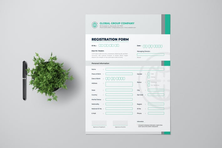 Cover Image For Clean Business Registration Form Template