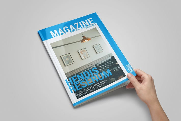 Thumbnail for InDesign Magazine Template