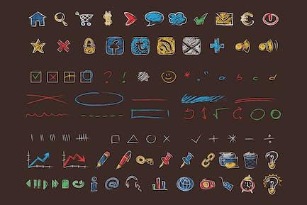 Crayon & Chalk Icons