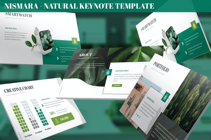 Thumbnail for Nismara - Natural Keynote Template