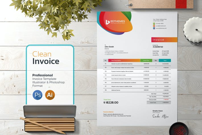 Cover Image For Invoice Template 01