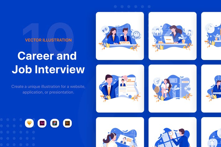 Thumbnail for Job Interview Illustrations
