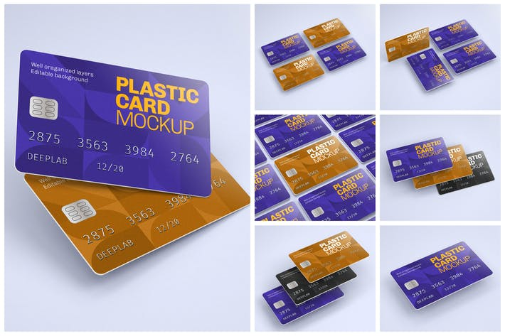 Plastic Card Mockup Set | Credit Card