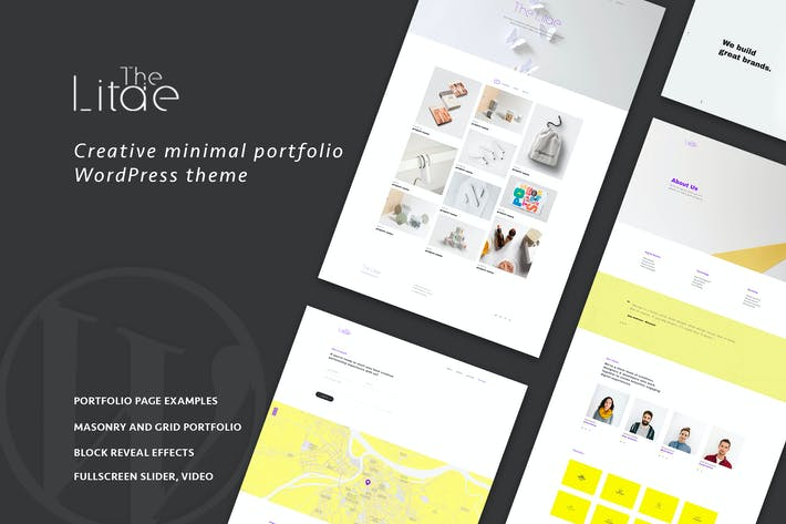 Thumbnail for The Litae - Minimal Portfolio WordPress Theme