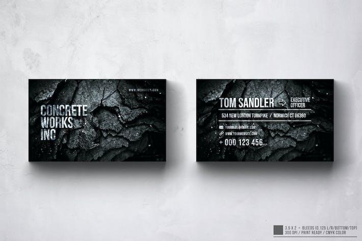 Concrete Works Business Card Design