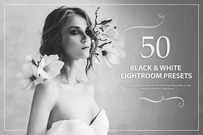 Thumbnail for 50 Black & White Wedding Lightroom Presets