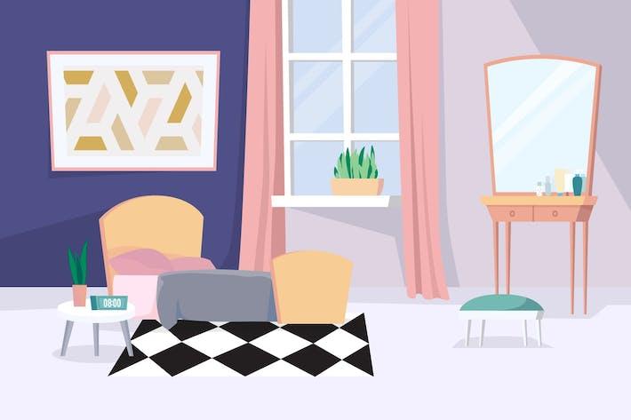 Thumbnail for Women's room - Illustration Background