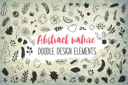 Abstract Seasonal Floral Doodles