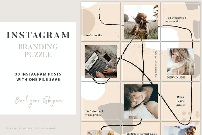 Thumbnail for Instagram Branding Puzzle Template