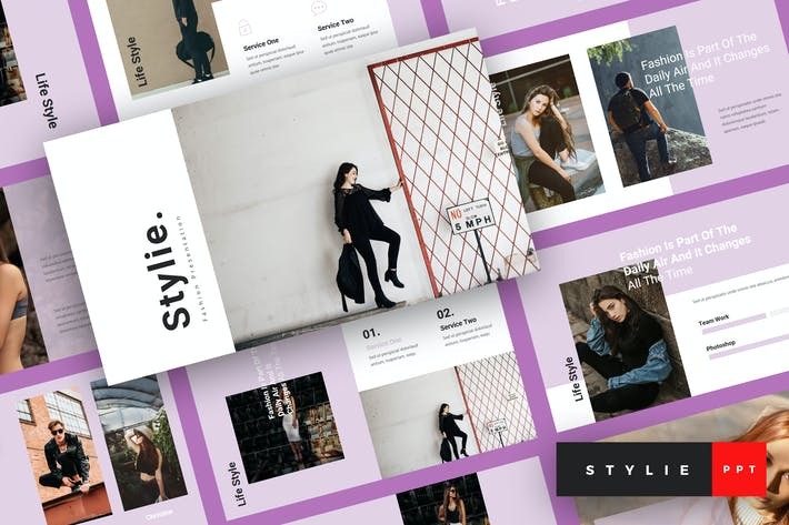 Thumbnail for Stylie - Fashion PowerPoint Template