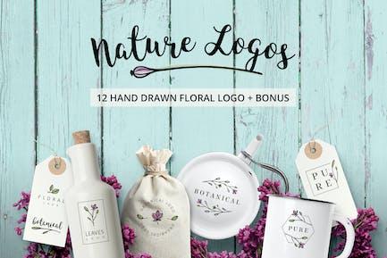 Natur & Blumen Logos + BONUS