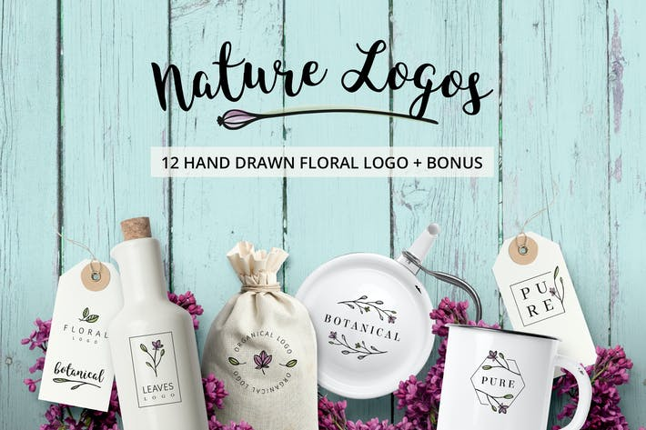 Thumbnail for Nature & Floral Logos + BONUS