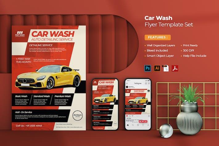 Car Wash Flyer - Instagram Post & Stories