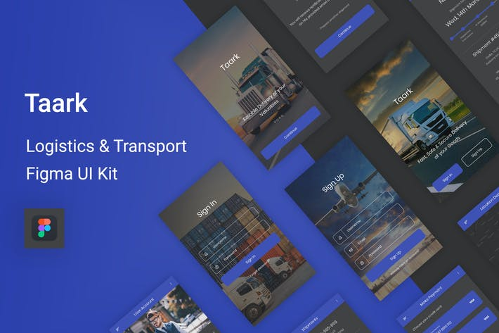 Thumbnail for Taark - Logistics & Transport Figma UI Kit