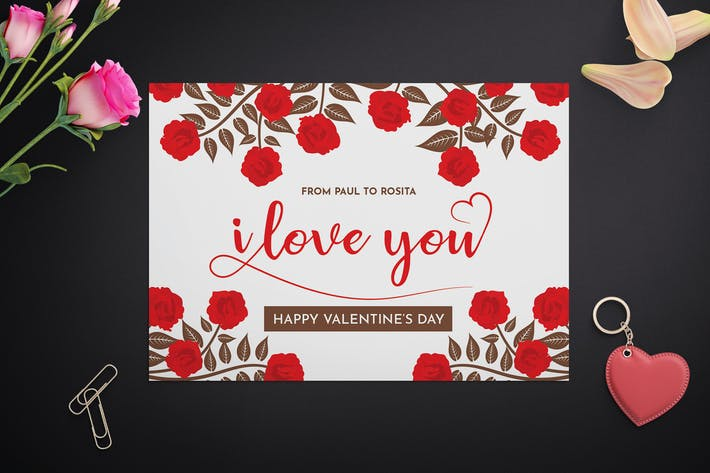 Thumbnail for Valentine's Card Template