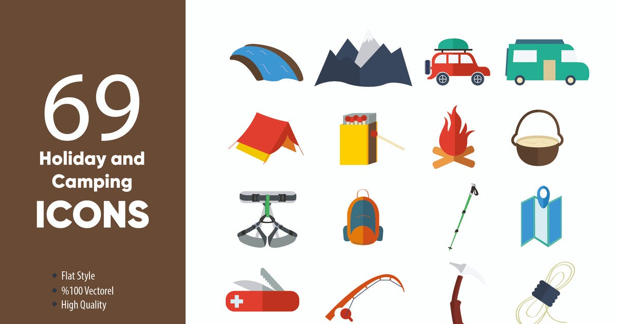 Download Holiday and Camping Icons by M0DE0N