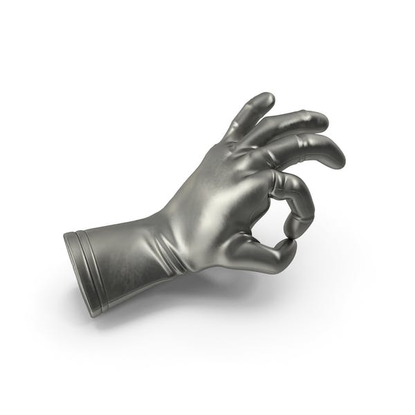 Metalic Glove OK Gesture