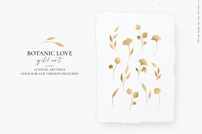 Thumbnail for Botanic Love, Gold Art Botanicals