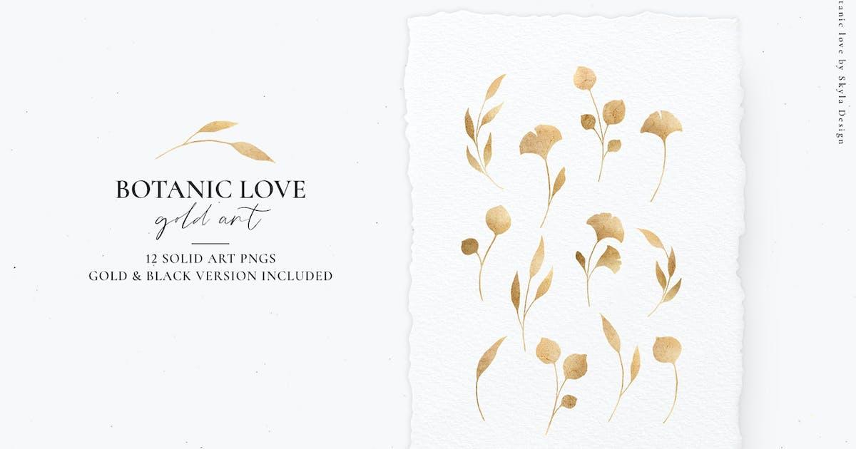 Download Botanic Love, gold art botanicals by angelekamp