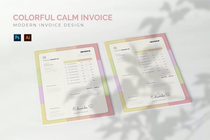 Colorful Calm - Invoice Template