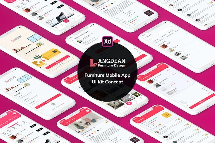 Thumbnail for Furniture Mobile App UI Kit Light Version (XD)