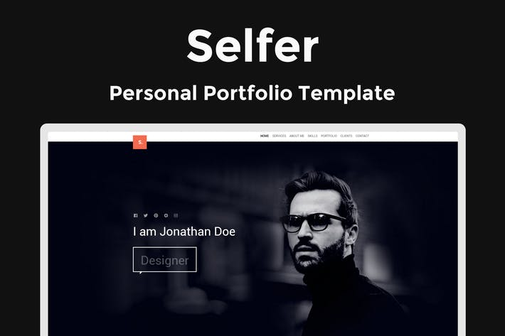 Thumbnail for Selfer - Personal Portfolio Template