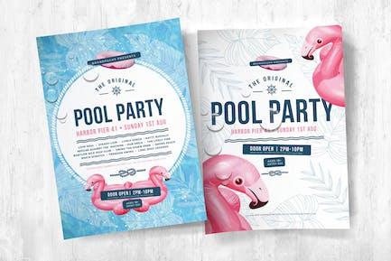 Poolparty Flyer & Plakat Vorlagen
