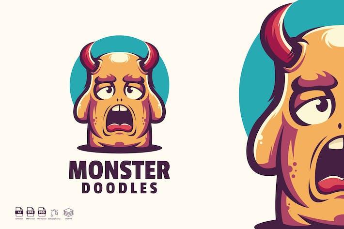 Thumbnail for Monster Doodles logo template