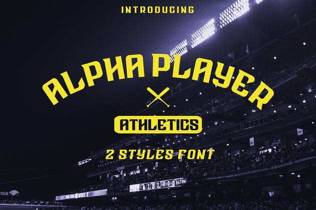 Alpha Player font - product preview 5